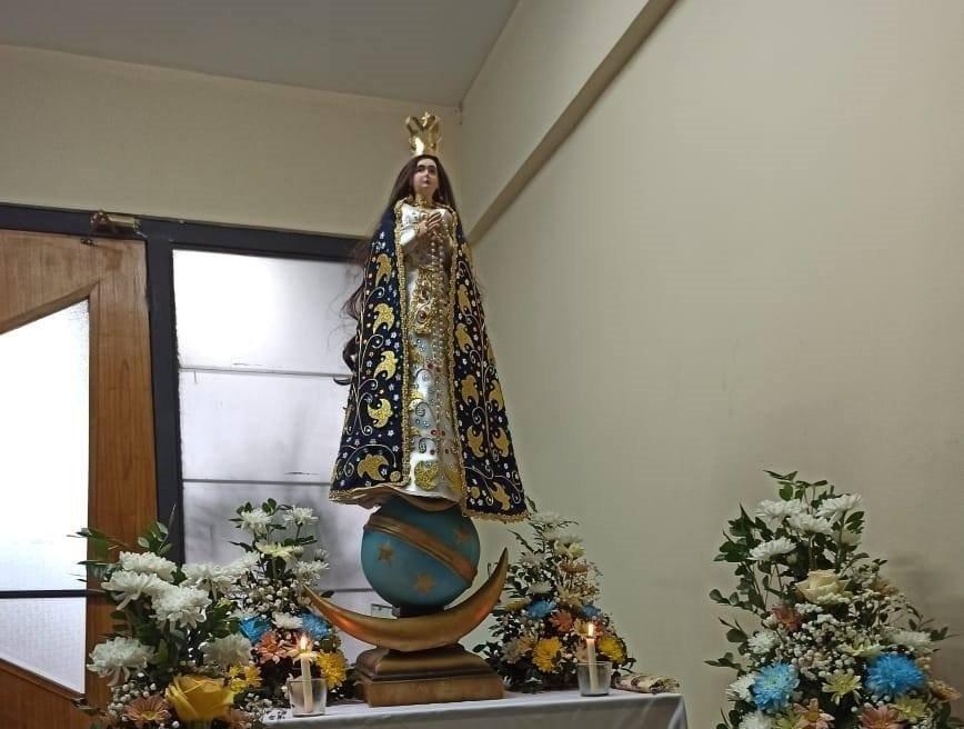 Nos visita la Virgen de Caacupé de la Capilla Caacupemi
